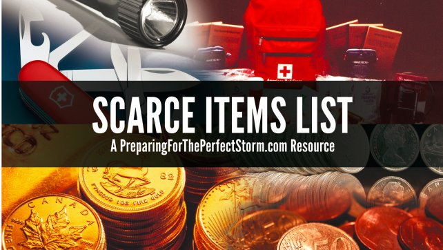 Scarce Items List